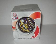 Louisiana State LSU Tigers College Football Glass Christmas Ornament New in Box | eBay