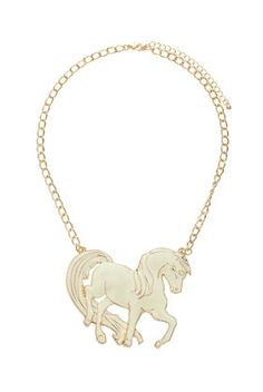 Topshop Pony Pendant Necklace