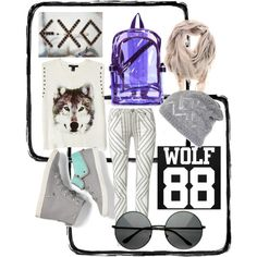 """""""exo wolf style3"""" by naulimazzy on Polyvore"""