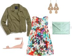 """""""military jacket with dress"""" by redress on Polyvore"""