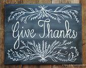 Hand Painted Chalkboard #ModernThanksgiving