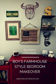 It's week 5 of the $100 Room Challenge, the big reveal!!! Are you ready to see my boy's new bedroom makeover? If you are not familiar with the challenge it was created by Erin of Lemons, Lavender and Laundry You have $100 budget and one month to make over a space in your home. At …