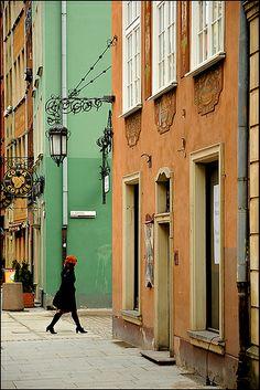 on the streets of Gdańsk