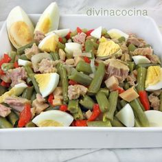 {Garbanzo} Chickpea salad with avocado and tuna fish - Laylita's Recipes Healthy Dinner Recipes, Vegetarian Recipes, Cooking Recipes, Comidas Lights, Coliflower Recipes, Deli Food, Salad Recipes, Good Food, Food And Drink