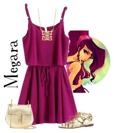 """""""Megara"""" by violetvd ❤ liked on Polyvore featuring Disney, Dorothy Perkins, Chloé and Lord & Taylor"""