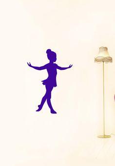 Wall Vinyl Sticker Decals Art Mural Little Ballet Dancing Girl Silhouette A1335. $29.99, via Etsy.