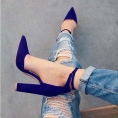 Pointed Toe Pumps with Ankle Tie 5 Colors