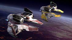 Eta-2 Actis-class light interceptors (from Star Wars - Episode III - Revenge Of The Sith)