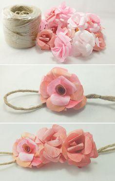diy paper rose garland