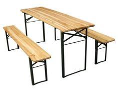 Jago BZG02 Garden Table with 2 Benches - 55 EUR