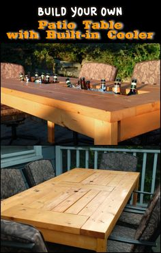 With the right tools, this DIY patio table with built-in cooler could be a quick weekend project.