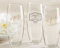 Personalized 9 Oz. Stemless Champagne Glass - Classic – My Wedding Favors