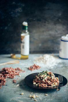 Homemade Spelt Beetroot Pasta (Souvlaki For The Soul)