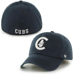 5b7d8d79f17 Brand Chicago Cubs Navy Blue Franchise Cooperstown Collection Fitted Hat is  available now at FansEdge.