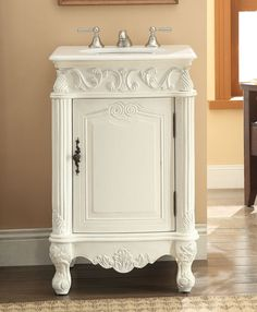 "CF-2801W-AW Antique White Stella bathroom Sink Vanity Size: 21x 21x34""H"