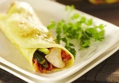 Omelettes roulées aux courgettes et poulet | Croquons La Vie - Nestlé