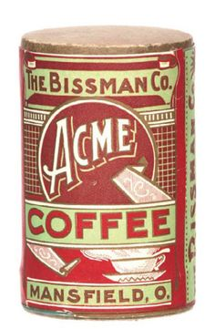 Acme Coffee Tin   Antique Advertising Value and Price Guide