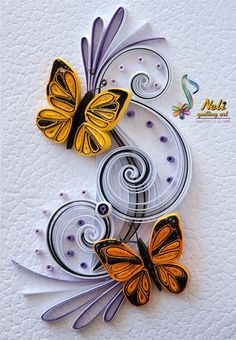 Neli Quilling Art: Quilling card cm- cm/ by june Neli Quilling, Quilling Butterfly, Paper Quilling Cards, Paper Quilling Tutorial, Paper Quilling Patterns, Quilled Paper Art, Quilling Craft, Quilling Ideas, Quilling Instructions