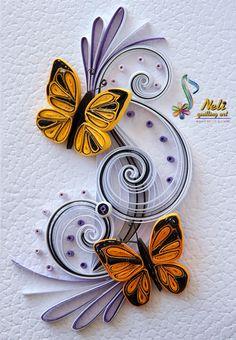 Neli Quilling Art: Quilling card /10.5 cm- 7.5 cm/