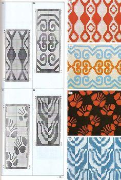 Wayuu pattern— «Pattern Library for Punch Card Knitters 1973 Tapestry Crochet Patterns, Fair Isle Knitting Patterns, Fair Isle Pattern, Knitting Charts, Knitting Stitches, Loom Beading, Beading Patterns, Card Patterns, Stitch Patterns