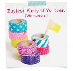 3 Cute & Simple Party Decor DIYs Using Washi Tape | Story by ModCloth