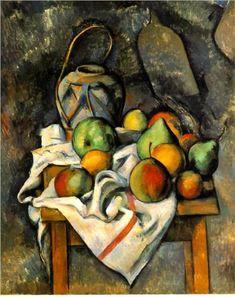 Cezanne: Ginger Jar, c. 1895. Oil on canvas. The Barnes Foundation, Merion, Pennsylvania.