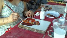 Painting Videos, Gold Leaf, Decoupage, Diy Crafts, Jesus Christ, Icons, Film, Creative Crafts, Tutorials