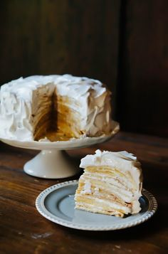 Coconut Cream Crepe Cake