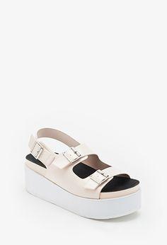 Buckled Flatform Sandals | FOREVER21 | #stepitup