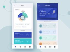 Financial Mobile Wallet App designed by Raf Redwan for Crunchy. Connect with them on Dribbble; Mobile Ui Design, App Ui Design, Web Design, Mobile Wallet App, Mobile App Ui, Application Design, Mobile Application, Web Inspiration, User Interface