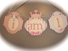 I am 1 high chair banner shabby chic theme by thisNthat1109, $10.00