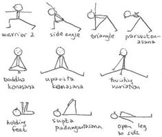 Love the stick man yoga instructions!