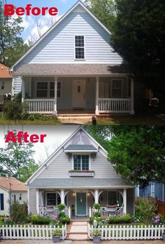 This metamorphosis went from dull to dollhouse. | 15 Curb Appeal Makeovers That Can Double Your Home's Value