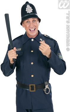 Flocked Bobby Police Hats - Fancy Dress (Cops/Robbers)  sc 1 st  Pinterest & British Bobby Costume. Halloween Horrors in Victorian London Party ...