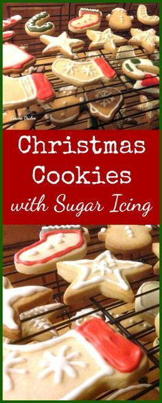 #Christmas #Cookies with #Sugar #Icing. These little cookies are such fun to make! Get ready for the holidays and make up a batch. Great for gifts and there's a recipe for a super easy sugar icing too. | Lovefoodies.com