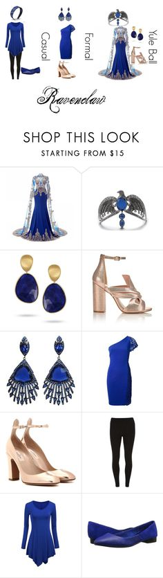 """""""Ravenclaw"""" by narcissa-bellatrix-andromeda ❤ liked on Polyvore featuring Marco Bicego, Miss Selfridge, Emilio Pucci, Valentino, Dorothy Perkins, WithChic and Joe's Jeans"""