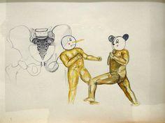 "Artista: Ricardo Muñoz Izquierdo, Dibujo 8 de la Intervención ""Caldo de Ojo"", Dibujo sobre papel, 28,5 x 40 cm, 2012-2014 + PA  Artis: Ricardo Muñoz Izquierdo, Drawing 8 from the Intervention ""Eye Soup"", Drawing on paper, 28,5 x 40 cm, 2012-2014 + PA"