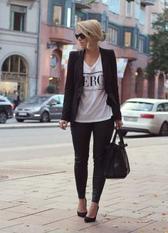 Linda Juhola - P.S. I love fashion ** I love anything involving a blazer and a tee!