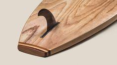 Cedar tail block on wood SUP