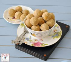 Churma Ladoo -  Traditional indian sweet treat from state of Rajasthan. Made with whole wheat flour, semolina, ghee, sugar and cashew nuts. Zesty South Indian Kitchen