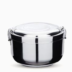 This Double Walled Food Storage Container is made from Stainless Steel. It is Lightweight, durable and double walled amd has split level It is ideal for hot or cold lunches, it will keep food warm or cold for hours.  | schoonerchandlery.com