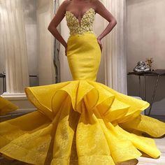 Arabic Yellow Full Lace Sweetheart Mermaid Prom Dresses Sexy Lace Appliqued Sheath Evening Gown Open Back Formal Party Dress Best Formal Dresses, Elegant Dresses, Sexy Dresses, Beautiful Dresses, Fashion Dresses, Party Dresses, Yellow Evening Dresses, Mermaid Evening Dresses, Evening Gowns