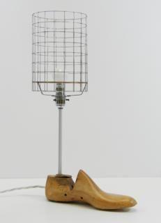 vintage shoe last lamp
