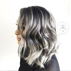 Gorgeous gray! @jeffreyrobert_ said his client started with dark brown hair and…