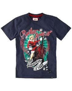 Joe Browns Rock Around T-Shirt Reg A vintage pin-up with a twist of festive cheer. Complete with velvet back neck tape and a star tab - a different Christmas tee. http://www.MightGet.com/january-2017-13/joe-browns-rock-around-t-shirt-reg.asp