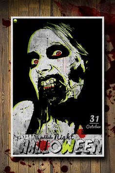 Create a Zombie Halloween Party Flyer and learn how to create vector artwork from images. Halloween Zombie, Halloween Party Poster, Tutorial Photoshop, Free Photoshop, Lens Flare, Web Design, Retro, Artwork, Posters
