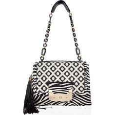 Blake Lively wearing Diane von Furstenberg Zebra Harper Bag.