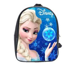 Disney Frozen Elsa School Bag Personalized Custom Your Photo Image Text book bag Husky on Etsy, $22.95