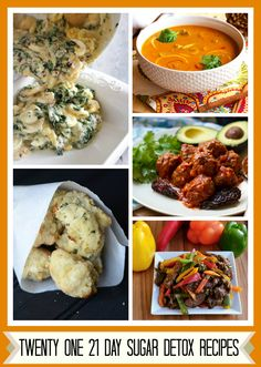 Twenty-One  21 Day Sugar Detox Recipes...I THINK SOME OF THESE WOULD WORK FOR THE ROTATION DIET TOO.