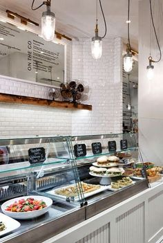 Restaurant Design- love the white subway tile and beadboard. This would look great in a home kitchen too.